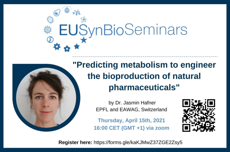 EUSynBioSeminar: Predicting metabolism to engineer the bioproduction of natural pharmaceuticals